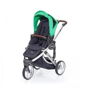Silla de paseo Abc Design Cobra Plus Chasis Plata Asiento Street Grass + Burbuja + Manoplas