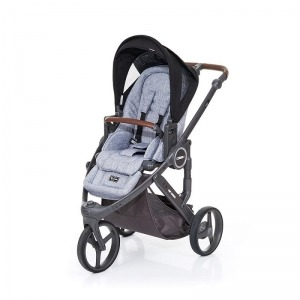 Silla de paseo Abc Design Cobra Plus Chasis Cloud Asiento Graphite Grey Black + Burbuja + Manoplas