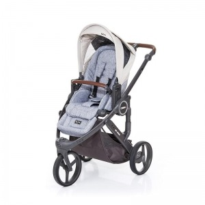 Silla de paseo Abc Design Cobra Plus Chasis Cloud Asiento Graphite Grey Sheep + Burbuja + Manoplas