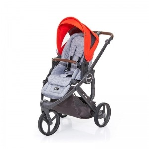 Silla de paseo Abc Design Cobra Plus Chasis Cloud Asiento Graphite Grey Flame + Burbuja + Manoplas