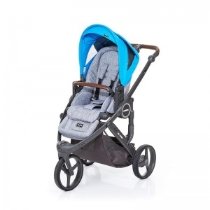 Silla de paseo Abc Design Cobra Plus Chasis Cloud Asiento Graphite Grey Water + Burbuja + Manoplas
