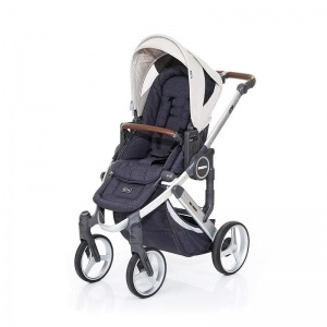 Silla de paseo Abc Design Mamba Plus 2016 Plata + Asiento Street Sheep + manoplas