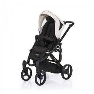 Silla de paseo Abc Design Mamba Plus 2016 Negra + Asiento Negro Sheep + manoplas