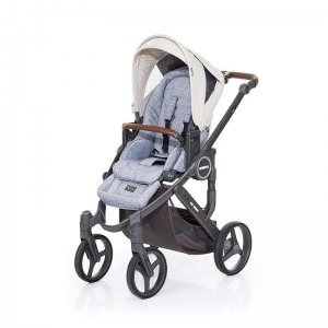 Silla de paseo Abc Design Mamba Plus 2016 Cloud + Asiento Graphite Grey Sheep + manoplas