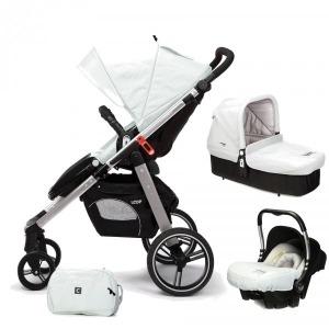 Cochecito de bebé Casualplay Loop Match 3 Aluminio + Portabebés Baby 0+ + Casualplay Cot + Bolso Ice