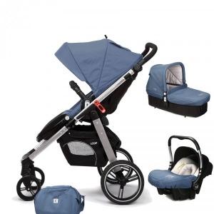 Cochecito de bebé Casualplay Loop Match 3 Aluminio + Portabebés Baby 0+ + Casualplay Cot + Bolso Lapis Lazuli