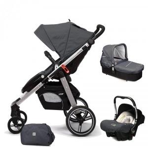Cochecito de bebé Casualplay Loop Match 3 Aluminio + Portabebés Baby 0+ + Casualplay Cot + Bolso Metal