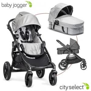 Cochecito Baby Jogger City Select Plata + Manoplas