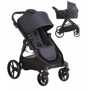 Cochecito Baby Jogger City Premier Duo Granito + Saco Premier + Burbuja
