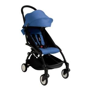 Silla de Paseo Yoyo + de Babyzen Chasis Negro Tapizado Azul