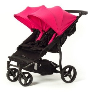 Silla de paseo gemelar Baby Monsters Easy Twin 2.0 Rosa Fucsia + Barra delantera