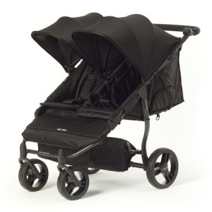 Silla de paseo gemelar Baby Monsters Easy Twin 2.0 Negra + Barra delantera