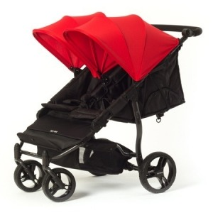 Silla de paseo gemelar Baby Monsters Easy Twin 2.0 Roja + Barra delantera