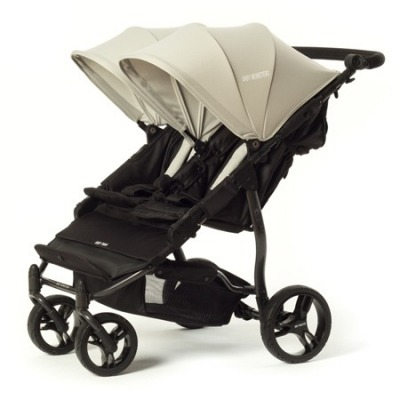 Silla de paseo gemelar Baby Monsters Easy Twin 2.0 Gris + Barra delantera