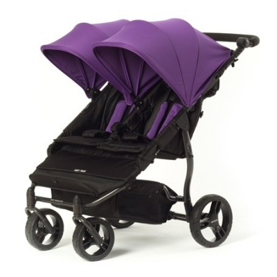 Silla de paseo gemelar Baby Monsters Easy Twin 2.0 Morada + Barra delantera