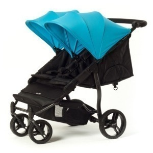 Silla de paseo gemelar Baby Monsters Easy Twin 2.0 Azul + Barra delantera