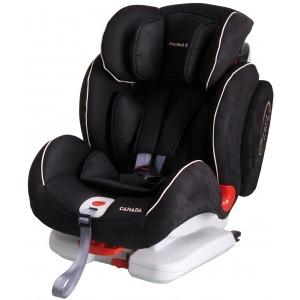 Silla de coche de los grupos 1, 2 y 3 Mondial Safe Canada Isofix Negra con vivo blanco