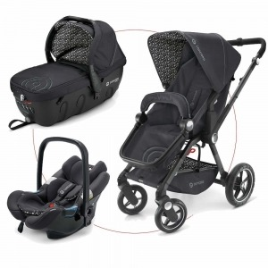 Cochecito Trio Concord Camino 2018 Travel Set Cosmic Black + Muselina