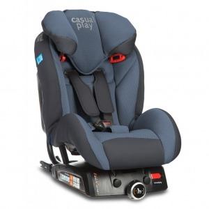 Silla de coche Casualplay Q-Retraktor 2018 Fix II Blue Steel