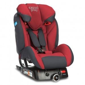 Silla de coche Casualplay Q-Retraktor 2018 Fix II Flame Red