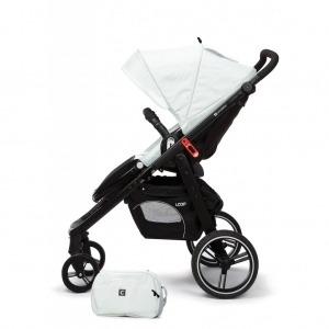 Cochecito de bebé Casualplay Loop Match 2 Aluminium + Portabebés Sono + Bolso Ice