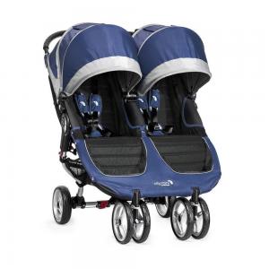 Silla de Paseo Baby Jogger City Mini Gemelar Azul Gris