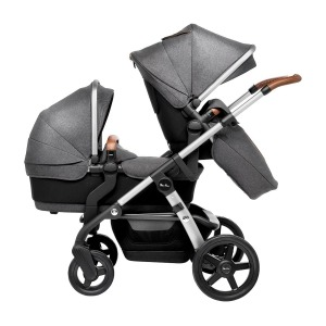 Coche de Paseo Silver Cross Wave gemelar Sable Gris
