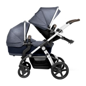Coche de Paseo Silver Cross Wave gemelar Midnight Blue Azul Marino