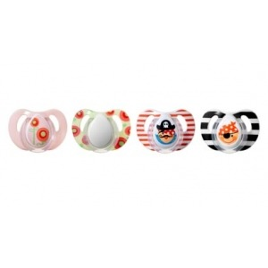 2 Chupetes Tommee Tippee Piratas y Flor Anatomico 6-18m