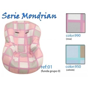 Funda Grupo Cero Mondrian Celeste