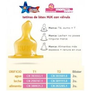 Tetina T1 Latex Agua (blister 2 Unds.)