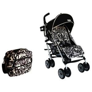 Silla de Paseo de Victorio y Lucchino Baby Luxe Negra con Colchoneta y Bolso Negro