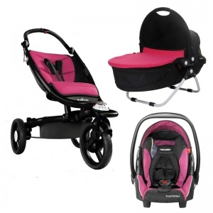 Cochecito Trio Recaro Babyzen Pink Chasis Negro