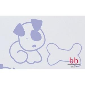 Vinilo decorativo perrito Hueso azul