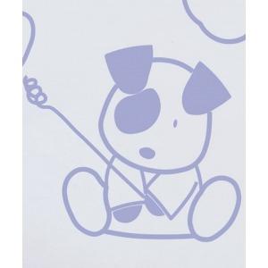 Vinilo decorativo Perrito Mancha azul