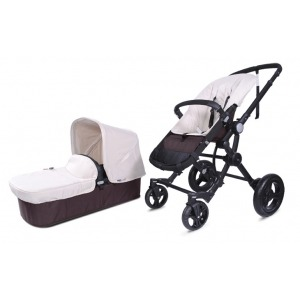 Cochecito Baby Ace Travel System Negro Marfil