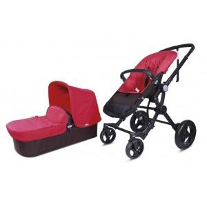 Cochecito Baby Ace Travel System Choco Rojo