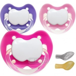 Pack 3 Chupetes Personalizados Trendy Happy Girl 0-6 Meses