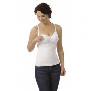 Top reductor sin costuras para lactancia Carriwell Talla L Color blanco