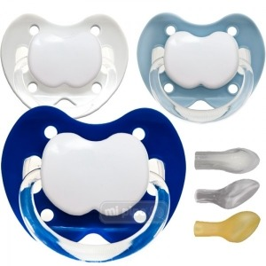 Pack 3 Chupetes Personalizados Trendy Hiper Blue 0-6 Meses