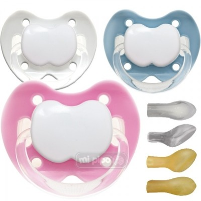 Pack 3 Chupetes Personalizados Trendy Happy 0-6 Meses