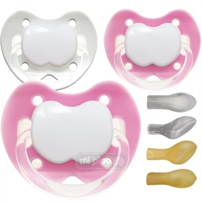 Pack 3 Chupetes Personalizados Trendy Pink 0-6 Meses