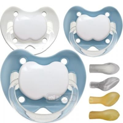 Pack 3 Chupetes Personalizados Trendy Blue 0-6 Meses