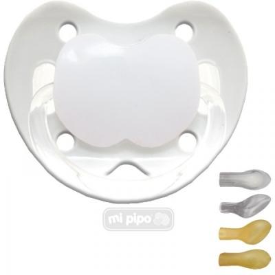 Mi Pipo Chupete Personalizado Blanco 0-6 M