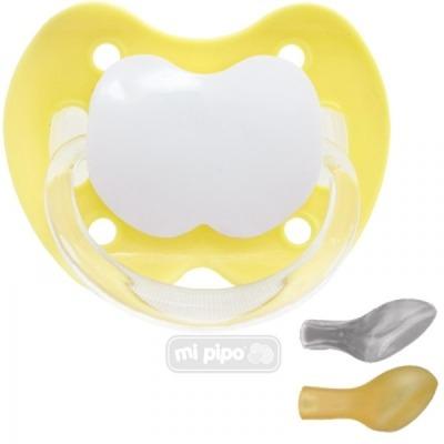 Mi Pipo Chupete Personalizado Amarillo +6 M