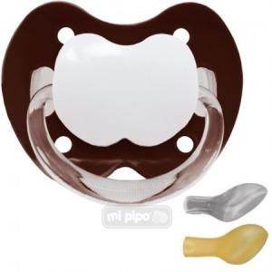 Mi Pipo Chupete Personalizado Chocolate +6 M