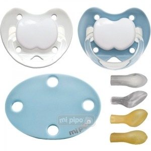 Pack 2 Chupetes con Broche Personalizados Blue +6 Meses