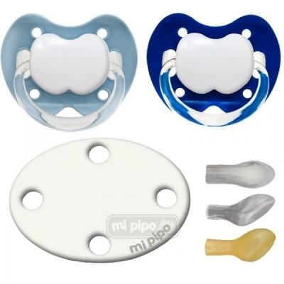 Pack 2 Chupetes con Broche Personalizados Hiper Blue +6 M