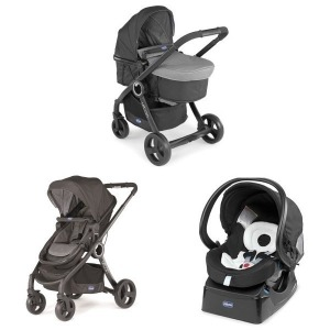 Cochecito Trio Chicco Urban Plus 2016 Anthracite + Manoplas