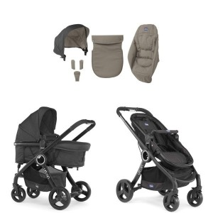 Cochecito Chicco Urban Plus 2016 Beige + Manoplas